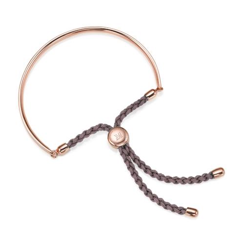 Rose Gold Vermeil Fiji Friendship Petite Bracelet - Mink - Monica Vinader