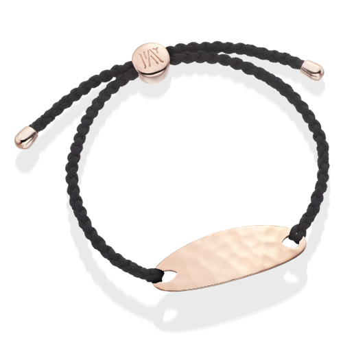 Rose Gold Vermeil Bali Friendship Bracelet - Black - Energy - Monica Vinader