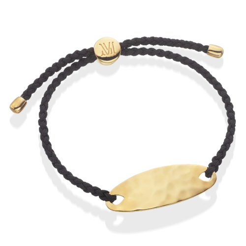 Gold Vermeil Bali Friendship Bracelet - Black - Energy - Monica Vinader