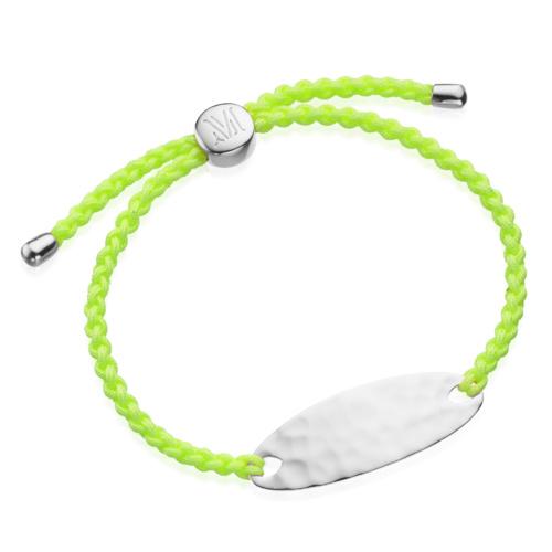 Bali Friendship Bracelet - Fluoro Yellow - Vitality - Monica Vinader