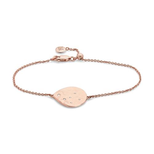 Rose Gold Vermeil Siren Scatter Bracelet - White Topaz