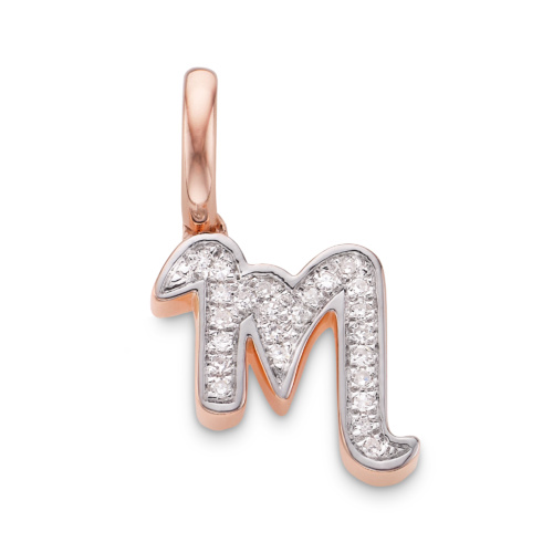 Rose Gold Vermeil Alphabet Pendant M
