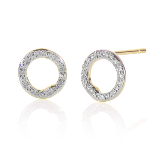 Gold Vermeil Riva Circle Stud Earrings