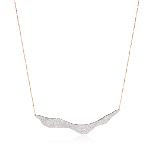 Rose Gold Vermeil Riva Wave Necklace