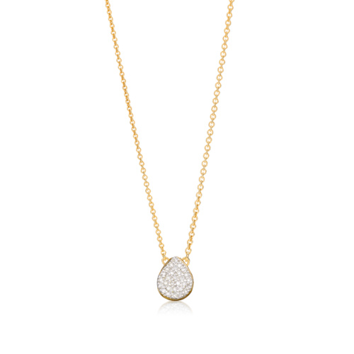 Gold Vermeil Alma Necklace - Diamond - Monica Vinader