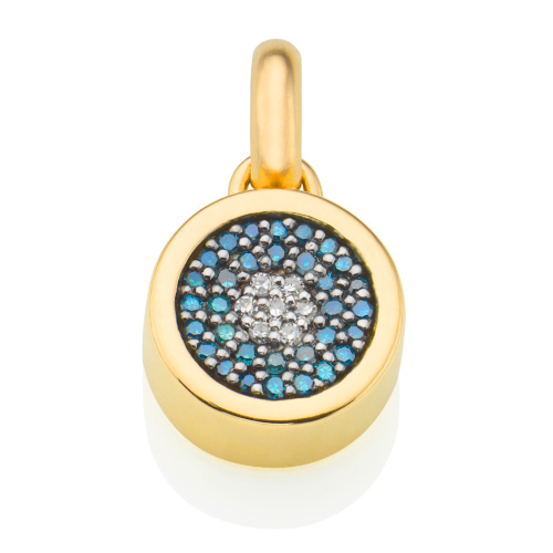 Gold Vermeil Evil Eye Pendant - Diamond - Monica Vinader