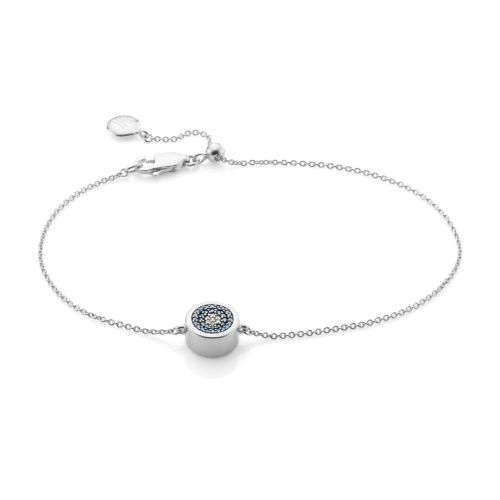 Evil Eye Chain Bracelet - Diamond - Monica Vinader
