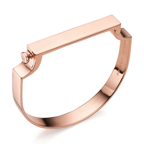 Rose Gold Vermeil Signature Bangle - Monica Vinader