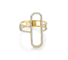 Gold Vermeil Naida Cocktail Ring - Diamonds