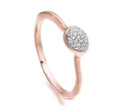 Rose Gold Vermeil Siren Diamond Small Stacking Ring